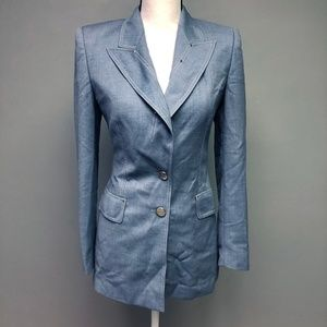 Escada Guabello Pure New Wool Power Suit Jacket